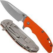 "Rick Hinderer XM-24 4"" Gen6 Sheepfoot 20CV, Orange G10 zakmes"