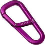 The James Brand The Hardin Purple ES204923-10 karabijnhaak