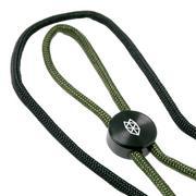 The James Brand Ulu lanyard, black, OD-green/black