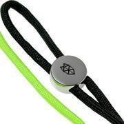 The James Brand Ulu lanyard, silver, neon-green/black