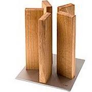 Kai Stonehenge bloc à couteaux aimanté , acier inoxydable/chêne, STH-3