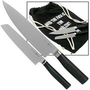 Kai Tim Mälzer Kamagata juego de cuchillos de dos piezas con bolsa de tela
