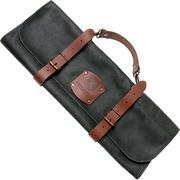 Knivesandtools bolsa de cuchillos de cuero Utah Black 45x47