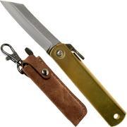 Higonokami pocket knife 5 cm HIGO75BRS, SK-carbon steel, brass