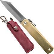 Higonokami couteau de poche 5 cm HIGO75RS, SK-acier carbone, laiton