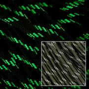 Knivesandtools 550 paracord type III, couleur : olive drab w/3 glow in the dark, 100 ft (30,48 m)