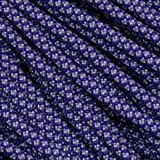 Knivesandtools 550 paracorde type III, couleur : acid purple with silver grey diamonds - 50 ft (15.24 m)