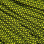 Knivesandtools 550 paracord type III, color: canary yellow diamonds - 50 ft (15,24 m)