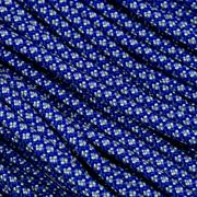 Knivesandtools 550 Paracord Typ III, color: electric blue with silver grey diamonds - 50 ft (15,24 m)