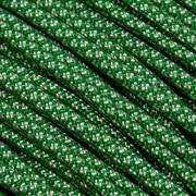 Knivesandtools 550 paracord type III kleur: kelly green with cream diamonds - 50 ft (15,24 meter)