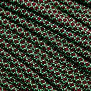 Knivesandtools 550 Paracord Typ III, Farbe: mint with burgundy diamonds - 50 ft (15,24 m)
