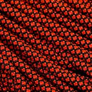 Knivesandtools 550 paracorde type III, couleur : neon orange diamonds - 50 ft (15.24 m)