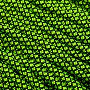 Knivesandtools 550 paracord type III, colour: neon yellow diamonds - 50 ft (15.24 meters)
