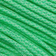 Knivesandtools 550 paracord type III, color: white with mint diamonds - 50 ft (15.24 m)