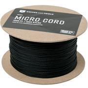 Micro Cord, zwart, 1000 ft (304,8 meter)