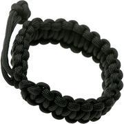 Knivesandtools paracord armband cobra wave, lengte binnenmaat 19-22 cm, zwart