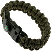 Knivesandtools survival armband cobra wave, lengte binnenmaat: 22 cm, army green