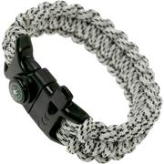 Knivesandtools Survival Armband cobra wave, longueur interne : 22 cm, arctic grey