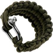 Knivesandtools paracord armband quick deploy, lengte binnenmaat: 22 cm, army green