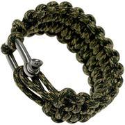Knivesandtools braccialetto paracord quick deploy, lunghezza interna: 22 cm, camo
