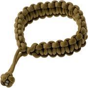 Knivesandtools braccialetto paracord cobra wave, marrone, lunghezza interna 22 cm