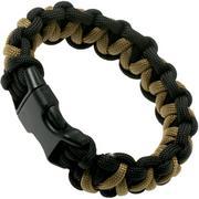 Knivesandtools bracelet en paracorde solomon wave, noir, longueur interne 24 cm