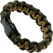 Knivesandtools paracord armband solomon wave, olive, binnenmaat 24 cm