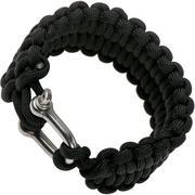 Knivesandtools braccialetto paracord quick deploy, nero, dimensione interna 21,5 cm