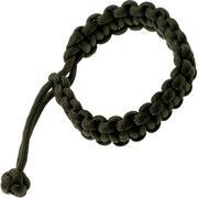 Knivesandtools paracord armband cobra wave, olijfgroen, binnenmaat 20 cm