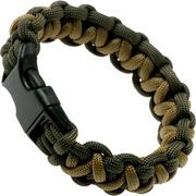 Knivesandtools bracelet solomon wave, olive green, inner size 20 cm
