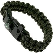 Knivesandtools survival armband cobra wave, comanche, binnenmaat 21 cm