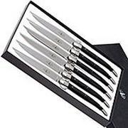 Forge Laguiole, T62MINTCNOI, Micarta juego de cuchillos para carne