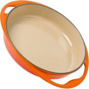Le Creuset tatin dish, 25 cm, orange-red