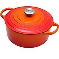 Le Creuset casserole-cocotte 24cm, 4,2 l orange