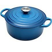 Le Creuset Bräter/Cocotte 24 cm, 4,2 l blau