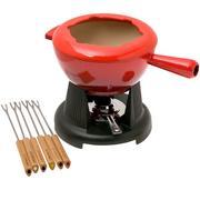 Le Creuset fondue set with cast-iron handles, 2L, cherry red