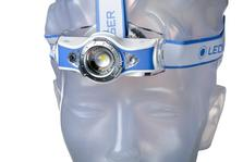 Ledlenser MH11 torcia frontale ricaricabile con bluetooth, blu