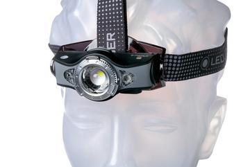 Ledlenser MH11 aufladbare Stirnlampe mit Bluetooth, grau