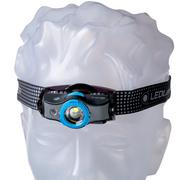 Ledlenser MH5 oplaadbare hoofdlamp, zwart en blauw