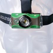 Ledlenser MH8 oplaadbare hoofdlamp groen