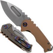 Medford Praetorian Genesis G, Drop S35VN Blade, Coyote G10 & Bronze Ti Handle, Taschenmesser