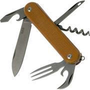 MKM Malga 6 Natural Canvas Micarta MP06-NC couteau de poche
