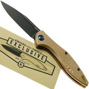MKM Fara Knivesandtools Exclusive MY01-BDSW Brass pocket knife, Lucas Burnley design