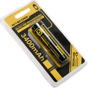 NiteCore NL1834R Accu Li-Ion 18650 rechargeable par micro-USB, 3400 mAh