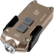 NiteCore TIP CRI oplaadbare sleutelhangerzaklamp, goud