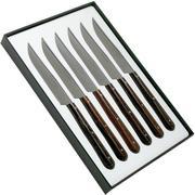 Nontron Traditional 6-piece steak knife set ash wood, T6OFFRD