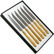 Nontron Traditional 6-piece steak knife set box wood, T6OFRYBU