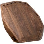 Noyer snijplank walnoothout met gleuf, 37x32 cm