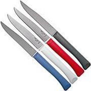 Opinel Bon Appetit+ set de 4 couteaux de table, primo, lame micro-dentée