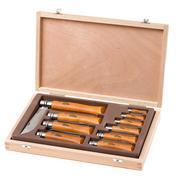 Opinel 10-piece pocket knife set, carbon steel